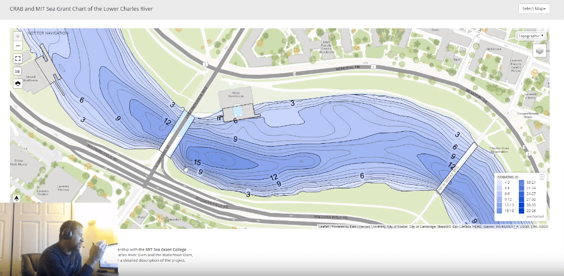 how to use topographic maps to find bass