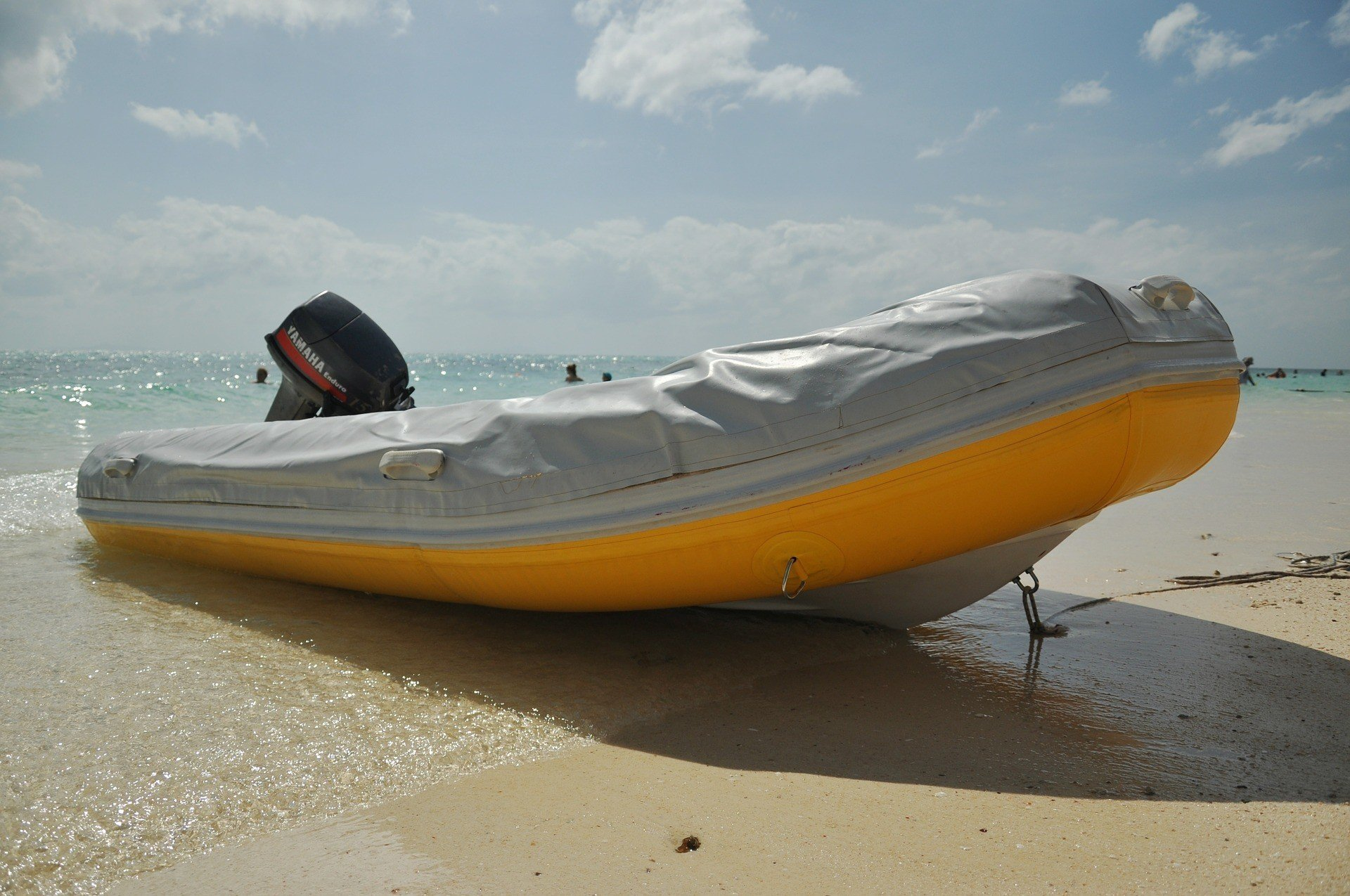 Beached Inflatable Boat