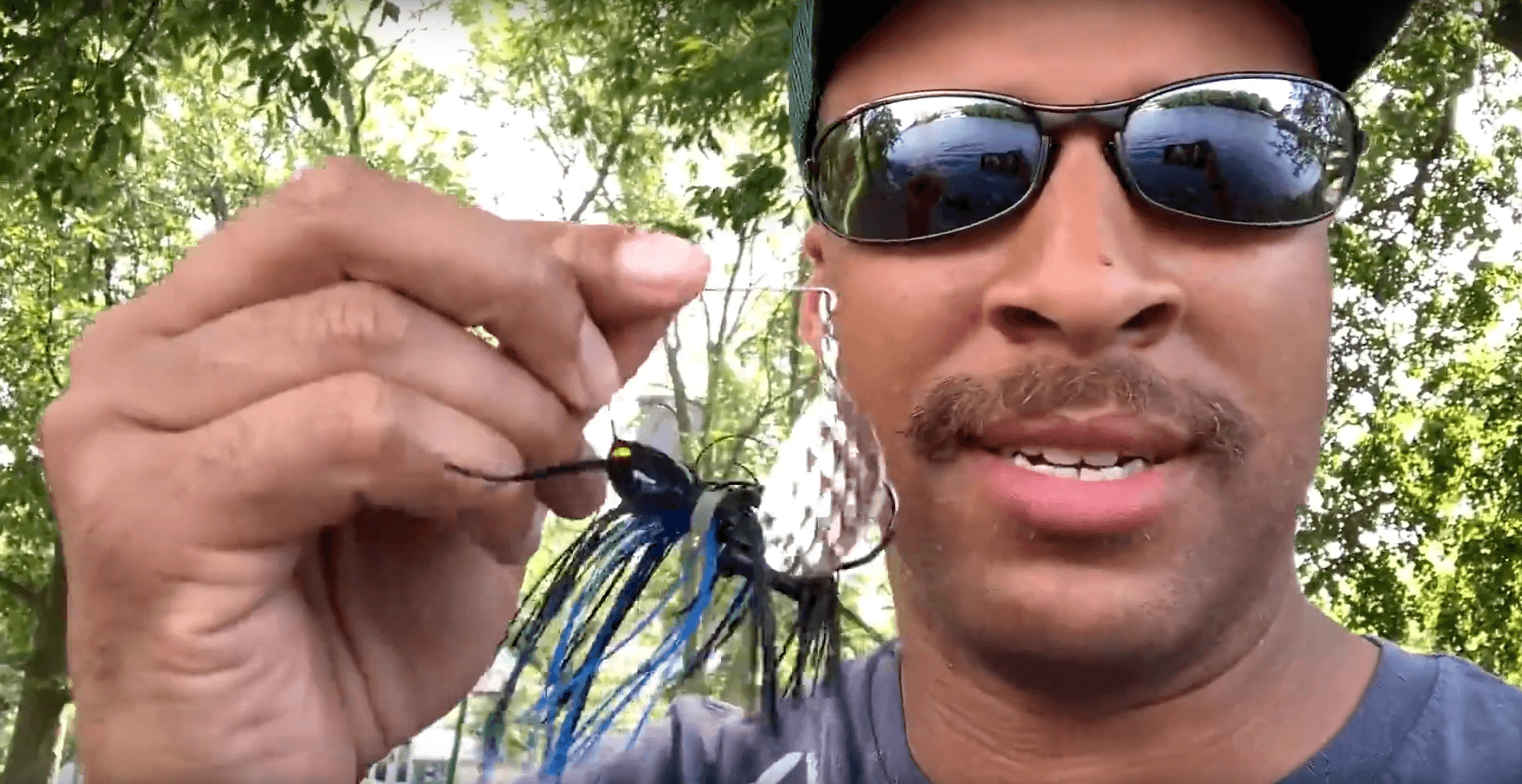 black and blue spinnerbait